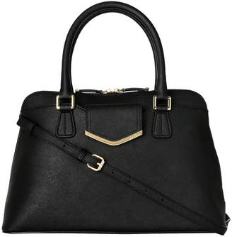 Calvin Klein H3GD11RP_BBLK On My Corner Saffiano Leather Satchel