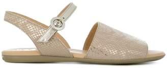 Hogan open toe slingback sandals