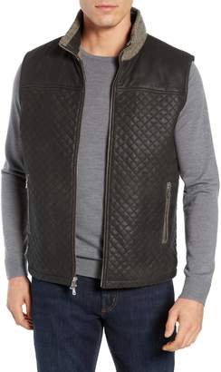 FLYNT Quilted Leather & Wool Vest