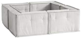 Pottery Barn Teen Cushy Pit Sectional Set, Gray Everyday Velvet, IDS