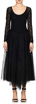 Nina Ricci WOMEN'S LACE & TULLE DRESS - BLACK SIZE 44 FR