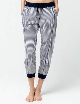 Splendid Lounge Stripe Womens Crop Jogger Pants