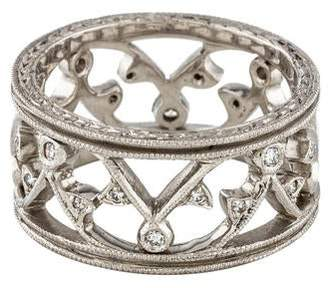 Cathy Waterman Platinum Diamond Lace Band