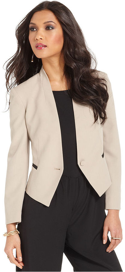 Rachel Roy Jacket, V-Neck Collarless Blazer