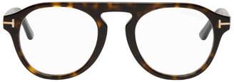 Tom Ford Tortoiseshell TF-5533B Clip-On Glasses