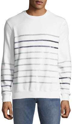 Antony Morato Men's Striped Crewneck Sweatshirt