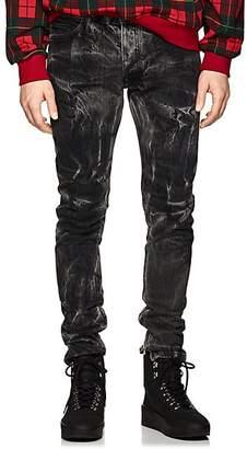 Fear Of God Men's Acid-Washed Ankle-Zip Slim Jeans - Black