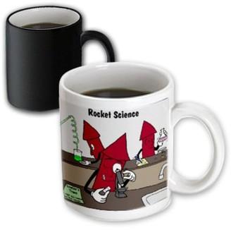 3dRose Rocket Science , Magic Transforming Mug, 11oz