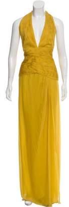 Valentino Silk Plissé Gown