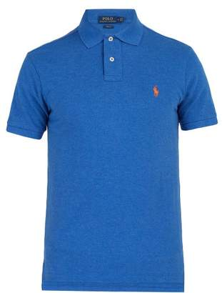 Polo Ralph Lauren Slim Fit Cotton Pique Polo Shirt - Mens - Blue