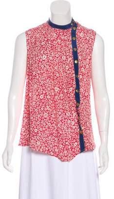 Ralph Lauren Moffat Silk Printed Top