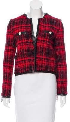 Pinko Collarless Tweed Jacket