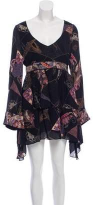 Elizabeth and James Long Sleeve Silk Dress