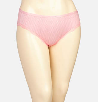Avenue Pink Dot Cotton Hipster Panty with Lace
