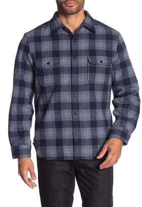 WALLIN & BROS Plaid Print Wool Blend Shirt Jacket
