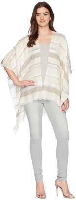 Echo Pacific Stripe Ruana Poncho Women's Clothing