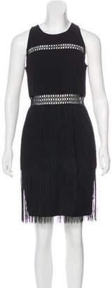 Aidan Mattox Sleeveless Fringe Dress w/ Tags