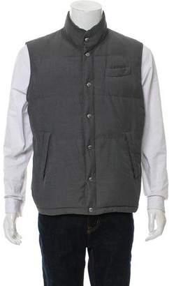 Brunello Cucinelli Woven Puffer Vest