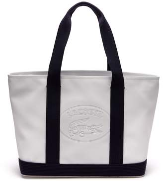 Lacoste Women's Classic Coated Pique Canvas Zip Tote Bag