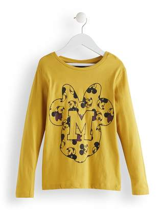 Red Wagon RED WAGON Girl's Minnie Mouse Mouse Printed Long Sleeve Top