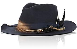 Nick Fouquet Men's The Soloist Fur Felt Fedora - Navy