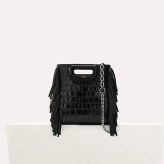 """Maje Mini """"M"""" bag in crocodile with chain"""