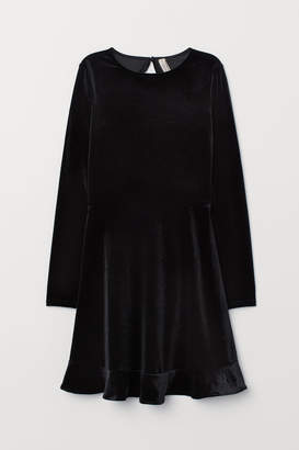 H&M Short Velour Dress - Black