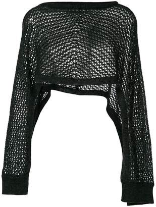 Chalayan overlay knit top