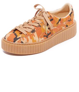 PUMA Rihanna Camo Creeper Sneakers $140 thestylecure.com
