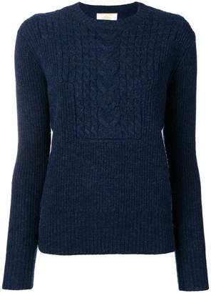 Le Mont St Michel cable knit jumper