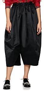 Comme des Garcons Women's Satin Voluminous Drop-Rise Pants - Black