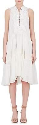 Chloé WOMEN'S LACE-UP COTTON SLEEVELESS DRESS