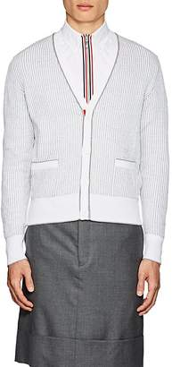 Thom Browne Men's Rib-Knit Cotton Cardigan