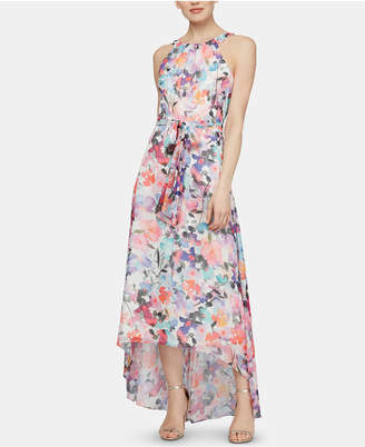 SL Fashions Sleeveless Printed Halter Maxi Dress
