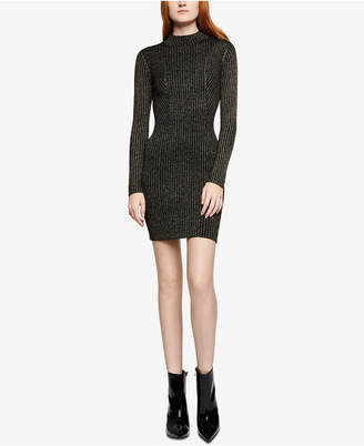 BCBGeneration Metallic Bodycon Sweater Dress