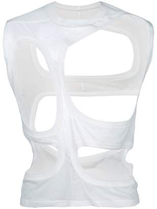 Rick Owens abstract cutout vest