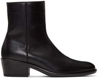 Haider Ackermann Black Polished Boots