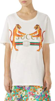 Gucci Tiger Logo Cotton Tee