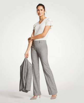 Ann Taylor The Petite Trouser In Crosshatch