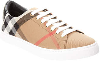Burberry Albert House Check Canvas & Leather Sneaker