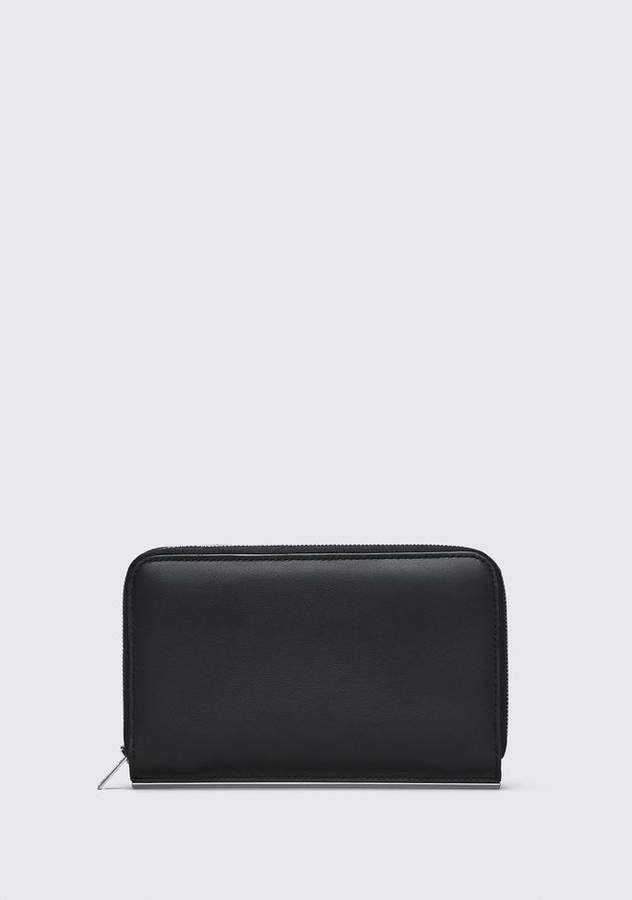 Alexander Wang DIME CONTINENTAL WALLET IN BLACK SMALL LEATHER GOOD