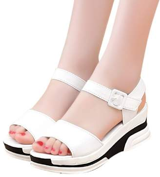 2d537a17ceb0 PeepToe Putars Fashion Sexy Women Summer Sandals Shoes Peep-Toe Low Shoes  Roman Sandals Ladies
