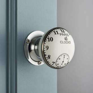 Pushka Home Vintage Interior Turning Paris Clock Mortice Door Knobs