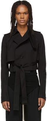 Rick Owens Black Short Trench Coat
