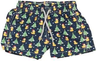 MC2 Saint Barth Ducky Santa Claus Nylon Swim Shorts