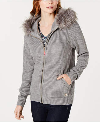 Tommy Hilfiger Faux-Fur Hooded Sweater
