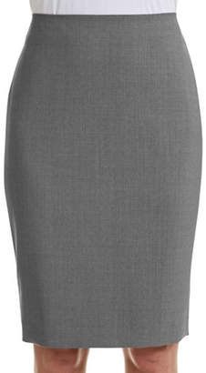Theory Pencil Virgin Wool Skirt