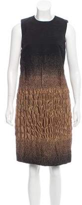 Prada Ombré Print Jacquard Dress