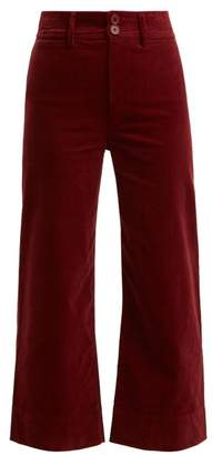 Apiece Apart Merida Corduroy Cropped Trousers - Womens - Dark Red