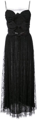 ADAM by Adam Lippes knotted front midi dress